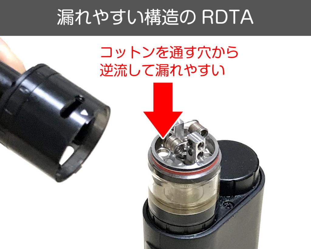 漏れやすい構造のRDTA